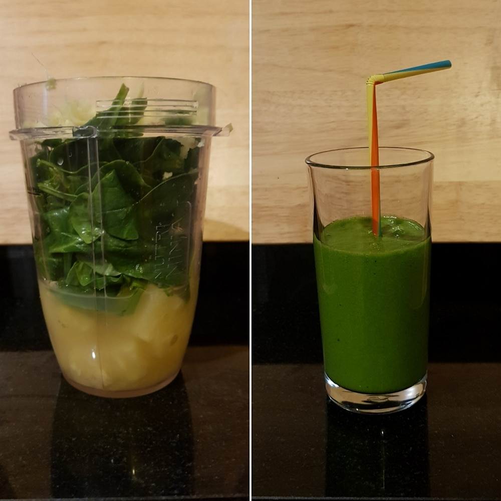 Spinach, pineapple and ginger smoothie