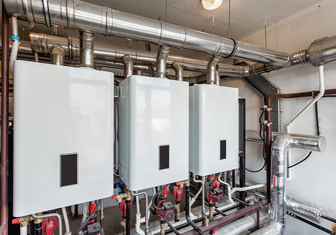 Commercial services heating systems