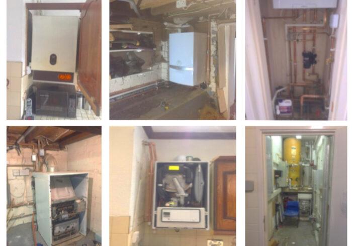 Boiler servicing photos