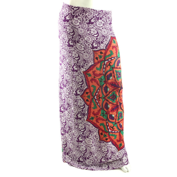 Purple fair trade mandala sarong, Wildwood Cornwall Bude