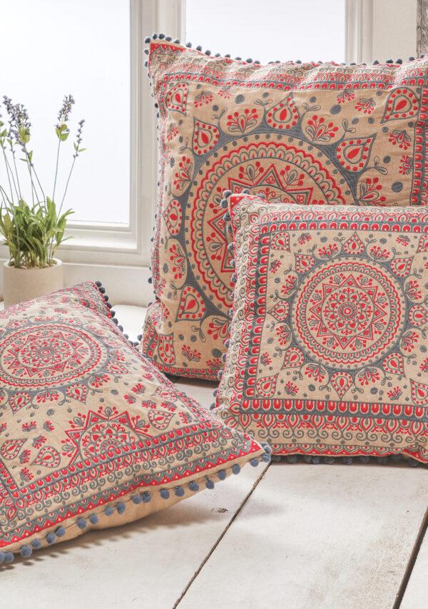 Fairtrade mandala cushion cover collection, Wildwood Cornwall, Bude