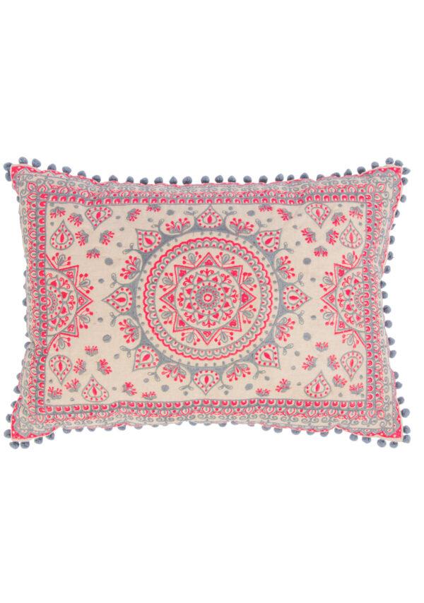 Rectangle fairtrade mandala cushion cover, Wildwood Cornwall, Bude