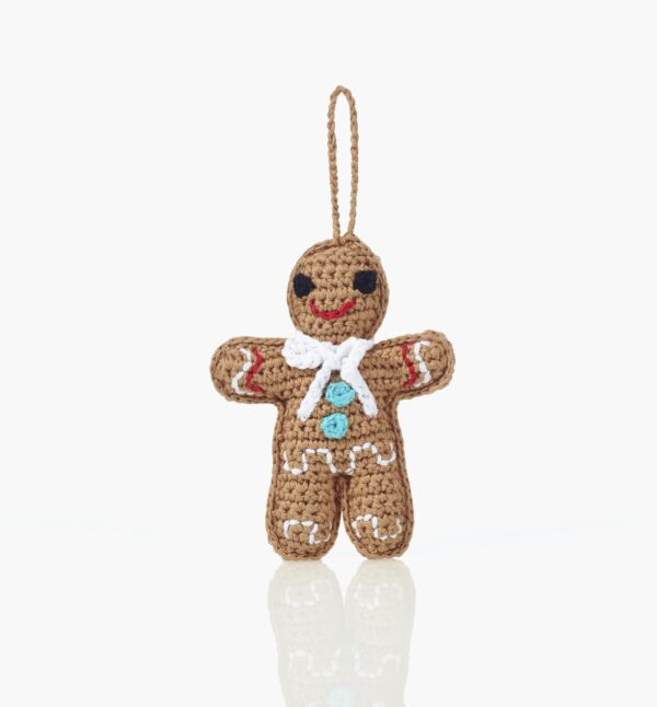 Gingerbread man christmas tree decoration Wildwood Cornwall