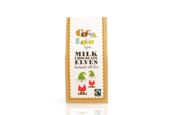Cocoa loco fair trade milk chocolate christmas elves kids gift, Wildwood Cornwall