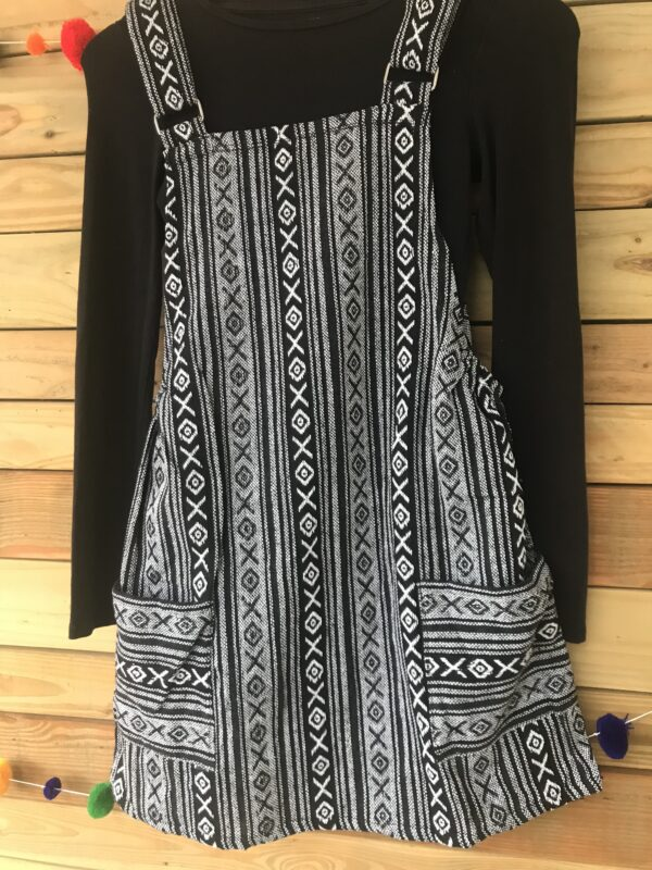 Fair trade Thai weave dungaree dress Wildwood Cornwall