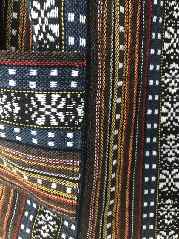 Thai weave dungaree pinafore dress Wildwood Cornwall ethical