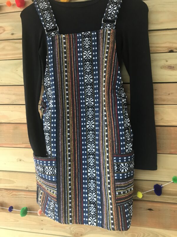 thai weave dungaree dress Wildwood Cornwall ethical fair trade