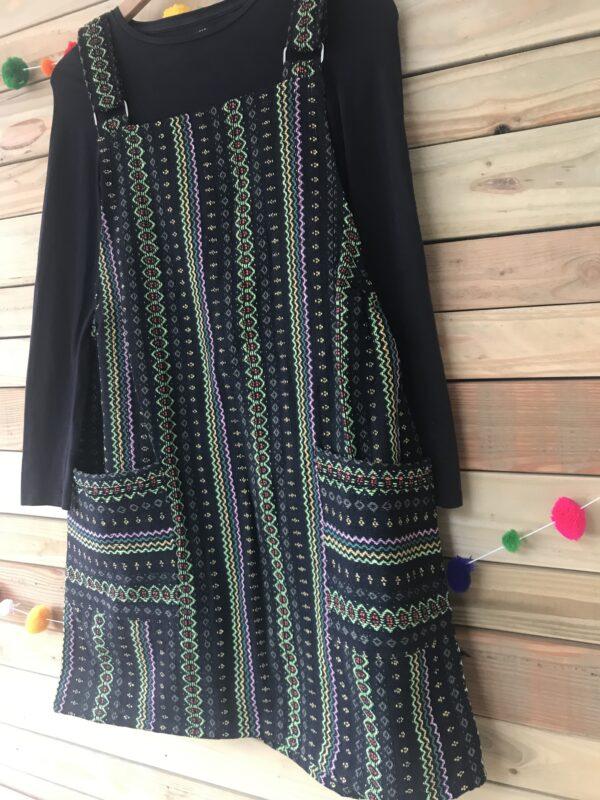 Green thai weave pinafore dress Wildwood Cornwall