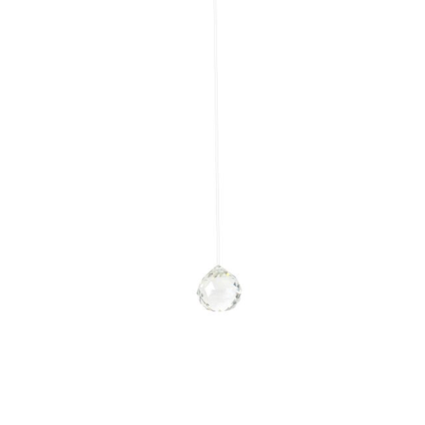 Hanging clear crystal decoration Wildwood Cornwall