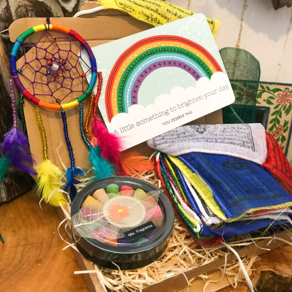 Fair trade gift box Wildwood cornwall prayer flags