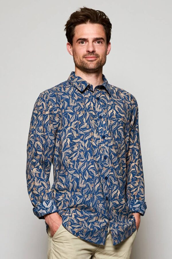 Fair trade mens shirt sundowner nomds Wildwood Cornwall