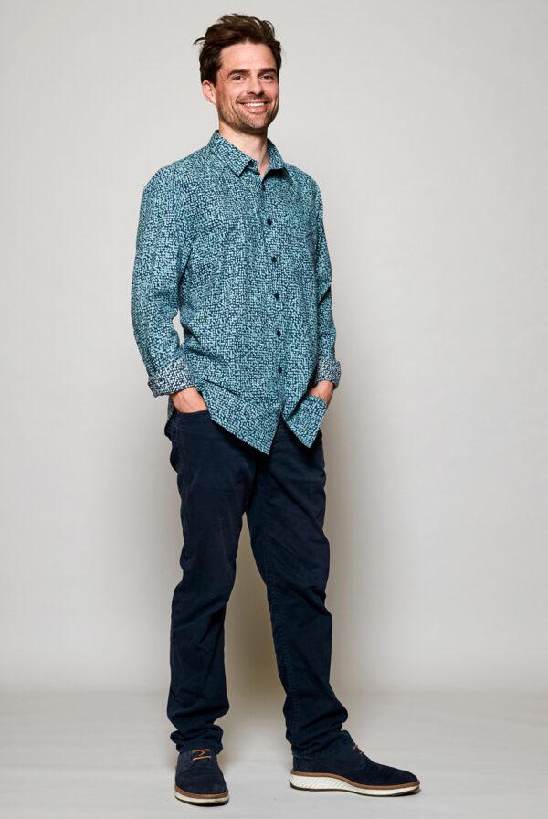 Mens fair trade cobble shirt Wildwood cornwall