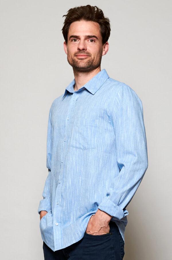 Mens fair trade cotton long sleeve shirt
