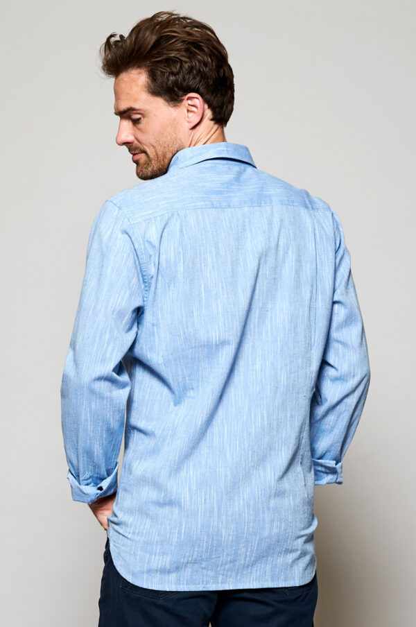 Mens fairtrade cotton shirt by Nomads Wildwood cornwall