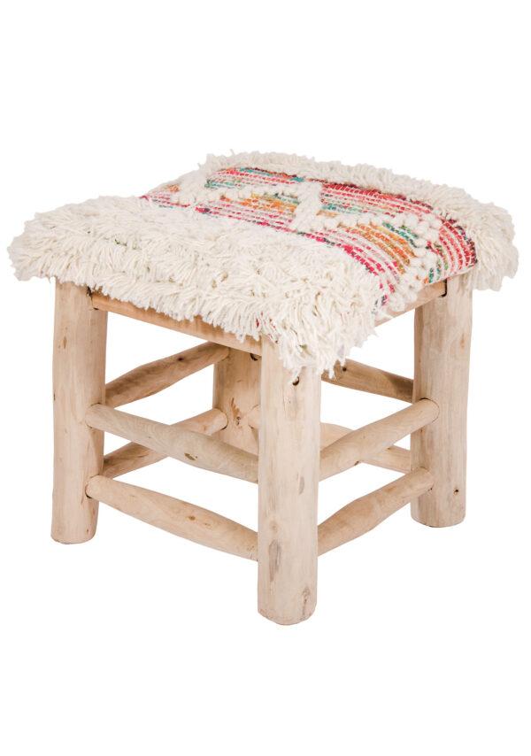 Ethical wool stool Wildwood Cornwall