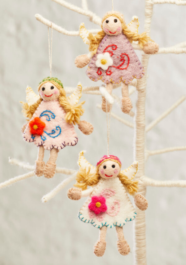 ethical fairy doll christmas decorations Wildwood Cornwall