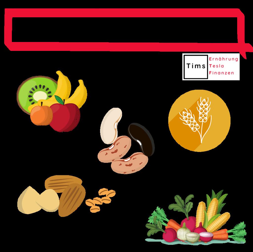 Nährstoffe vegan decken - 5 Hauptlebensmittelgruppen