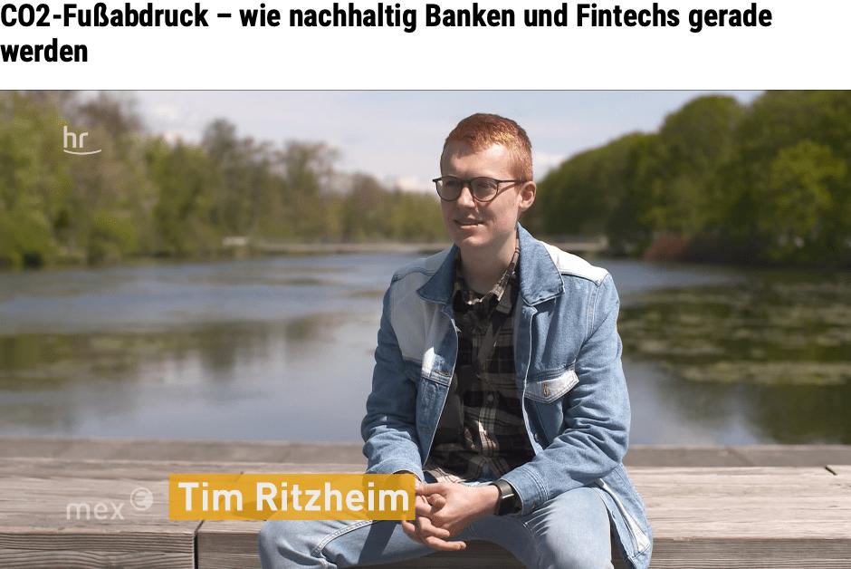 Beitrag hessischer Rundfunk zu nachhaltigen Banken mit Tim