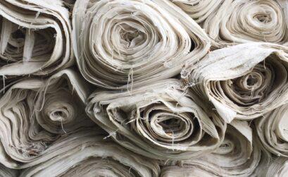 stack of white fabrics
