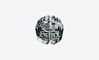 dollar bills shaped into brain