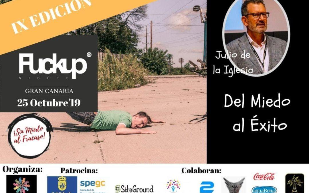 Julio de la Iglesia, en el cartel de la 9ª edición de la Fuckup Night Gran Canaria