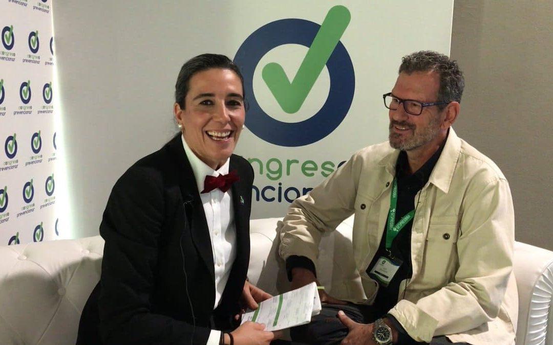 Julio de la Iglesia es entrevistado en el «chester» del Congreso Prevencionar