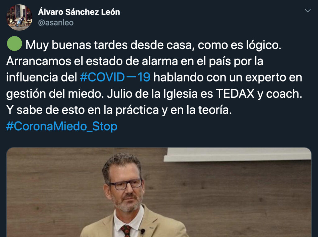 Entrevista a Julio de la Iglesia en Twitter