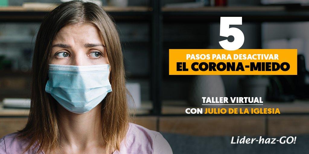 Julio de la Iglesia imparte un taller virtual gratuito para combatir el 'Corona-Miedo'