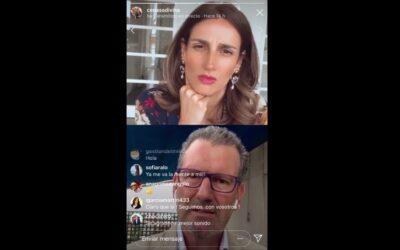Silvia Moreno entrevista a Julio de la Iglesia en directo en Instagram TV