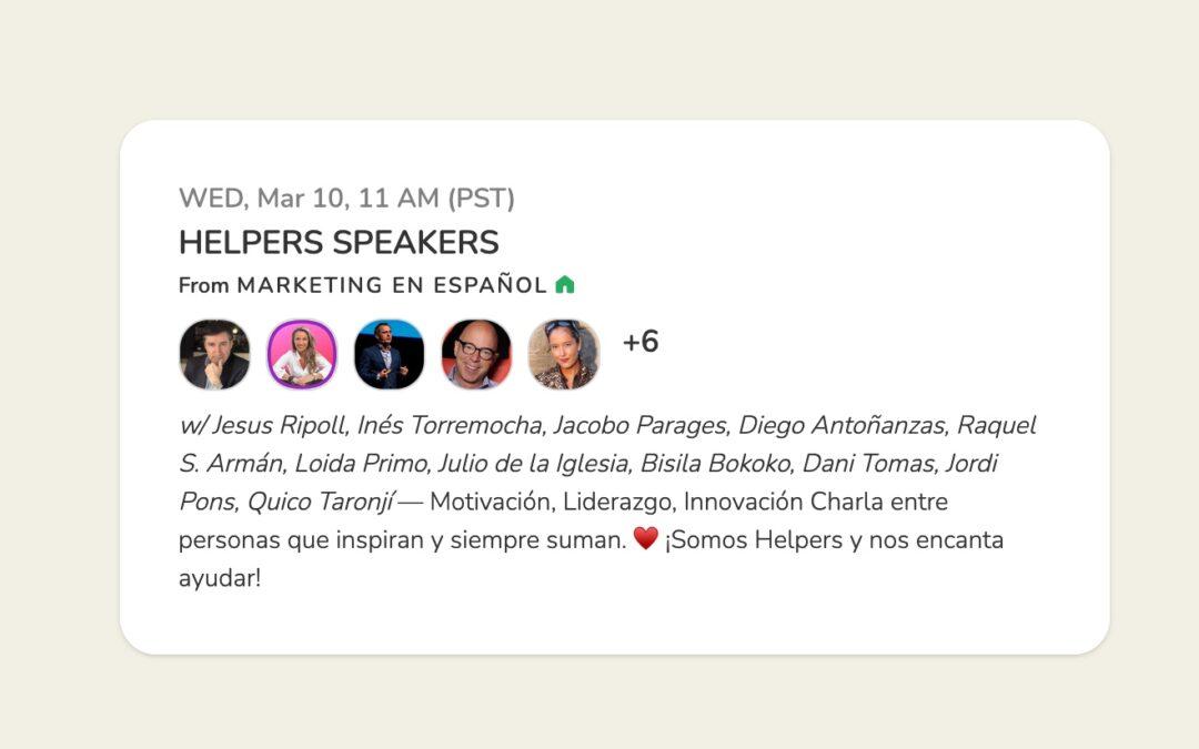 Julio de la Iglesia se une a la 'Sala Helpers Speakers' de Clubhouse