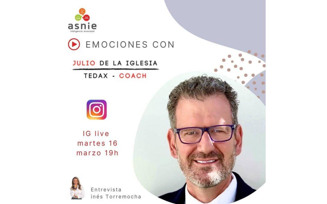 Julio de la Iglesia charla en directo sobre las emociones con Inés Torremocha