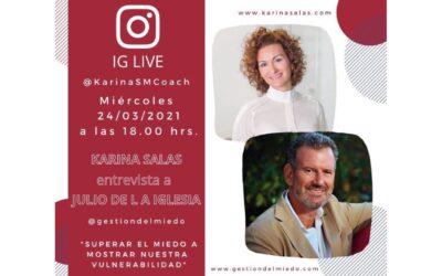 Karina Salas entrevista a Julio de la Iglesia en IG Live
