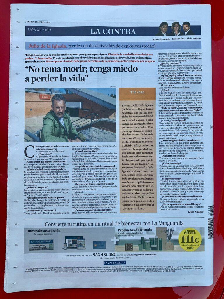 Julio de la Iglesia en La Contra de La Vanguardia