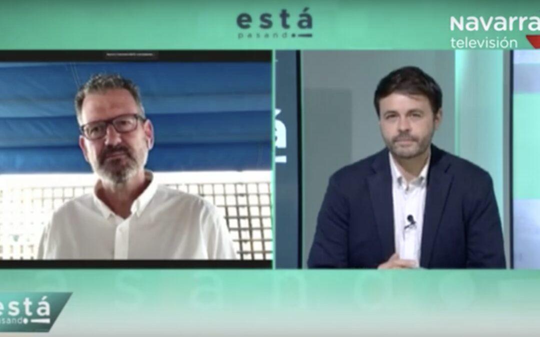Julio de la Iglesia habla sobre qué es la valentía en Navarra Televisión (14/06/2021)