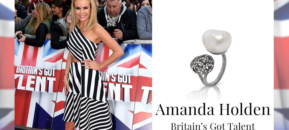 Amanda Holden wearing Fei Liu Whispering Baroque Pearl Ring for Britain's Got Talent