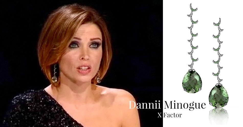 Dannii Minoque wearing Fei Liu Whispering Long Earrings for X Factor