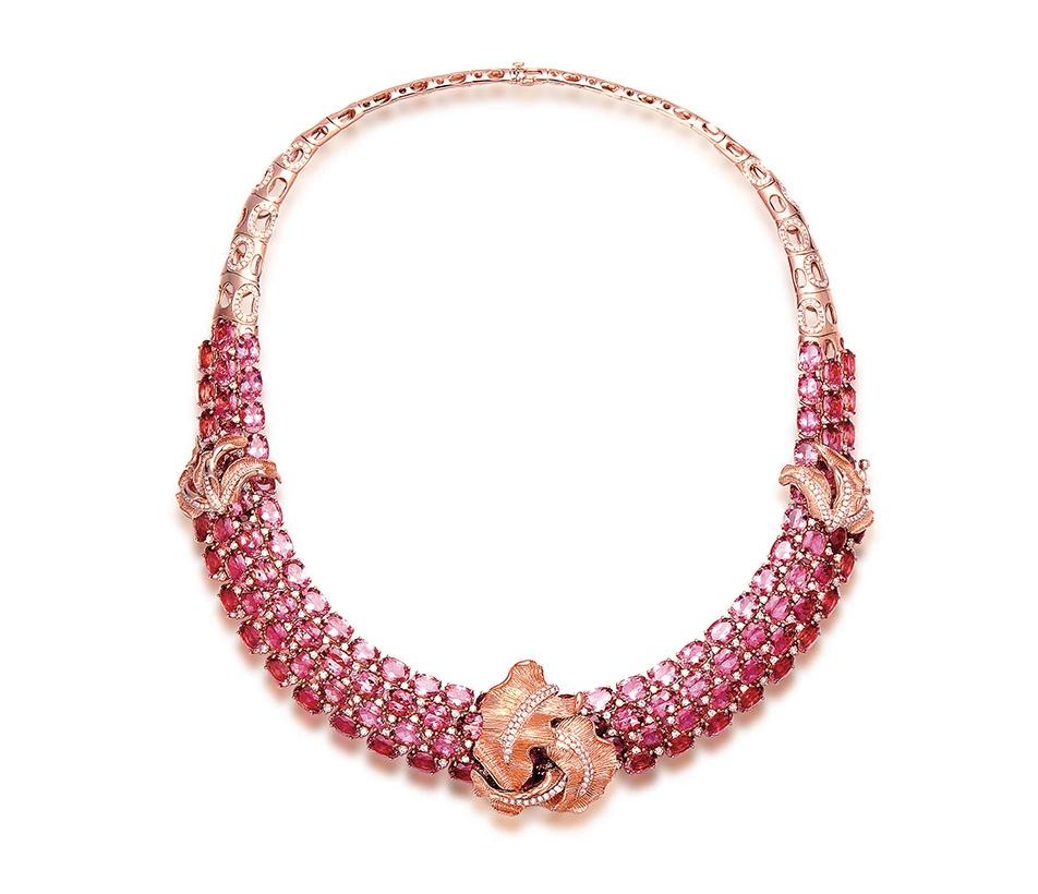 Fei Liu Pink Tourmaline Neckpiece