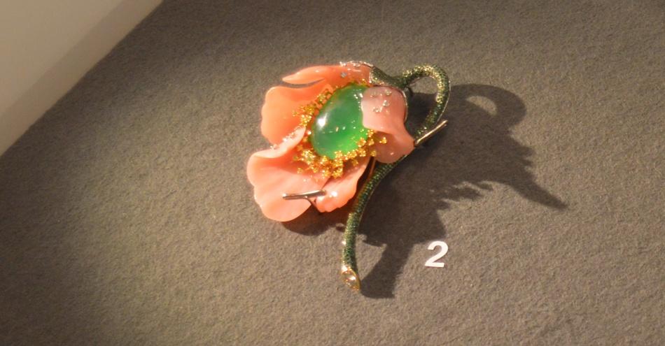 Opal Poppy Brooch.