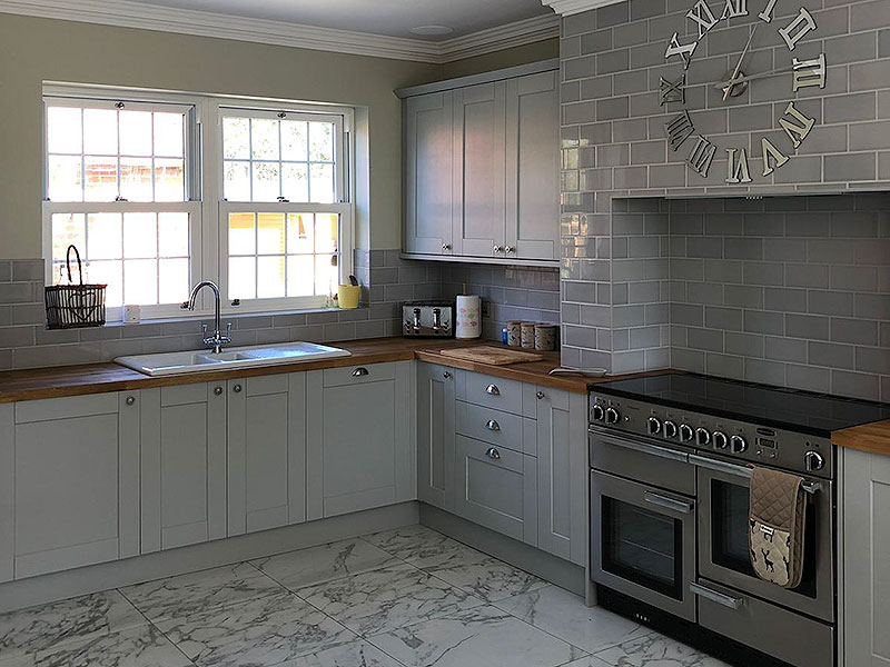 Farmhouse kitchen installation, Braintree