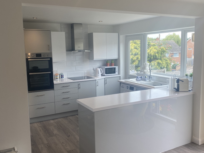 Merging a kitchen and dining room, Hawkes Road, Coggeshall