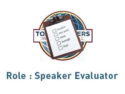 Role Speaker Evaluator