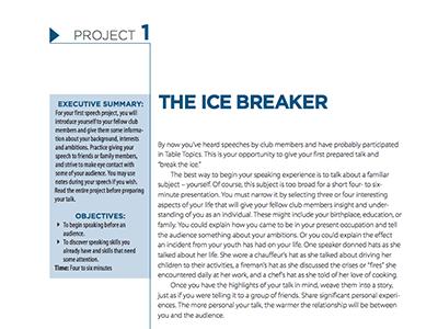 The Ice Breaker Speech