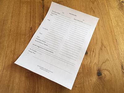 Tom Hobbs Evaluation Form