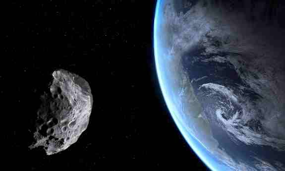 Earth Passing Asteroid
