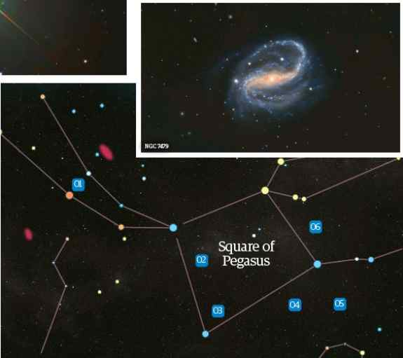 Mirach Ghost Galaxy location in Space
