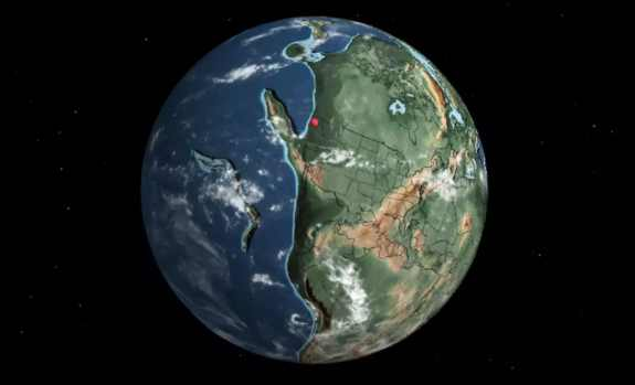 Approx. location of what is now Seattle, Washington, 240 million years ago