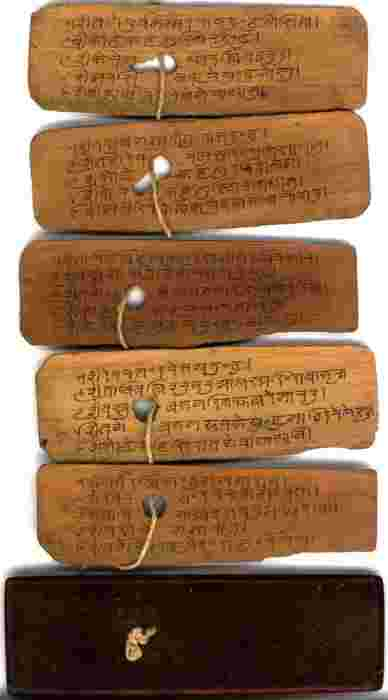 Unknown Book on Palm leaves