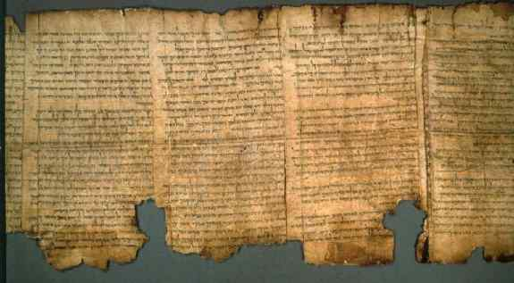 The Great Isaiah Scroll, the longest of the Dead Sea Scrolls