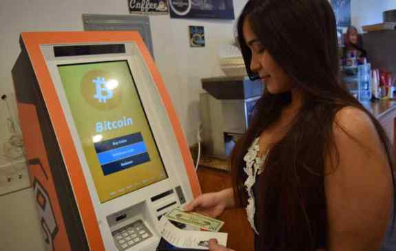 Bitcoin Cryptocurrency ATM machine