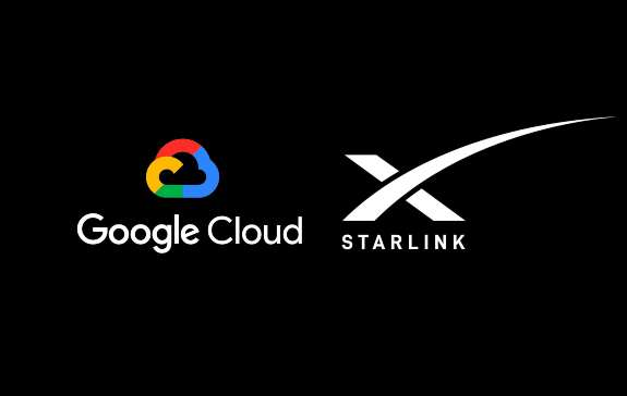 google cloud and starlink spacex  broadband service